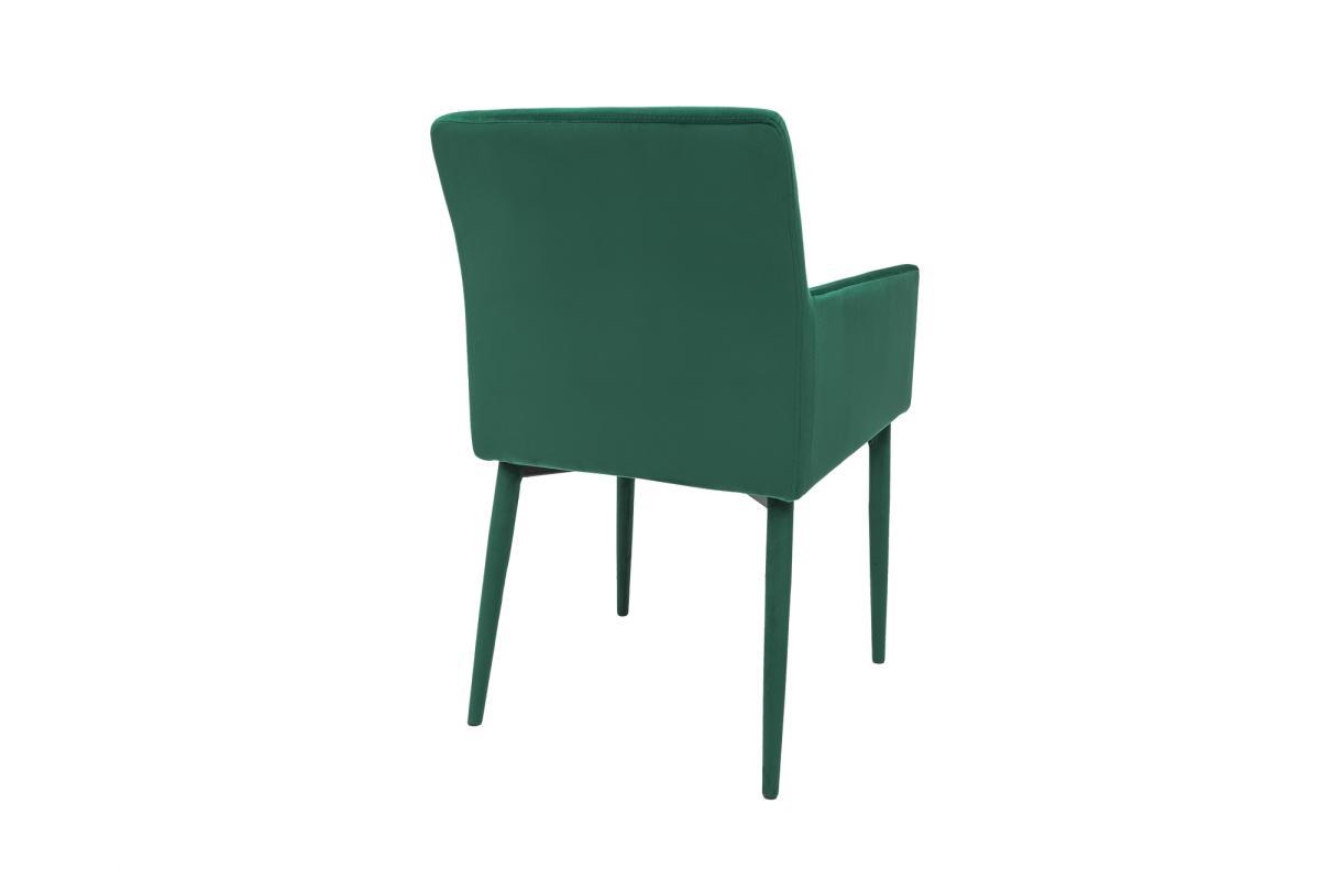 Designová židle s područkami Neapol, smaragdová zelená