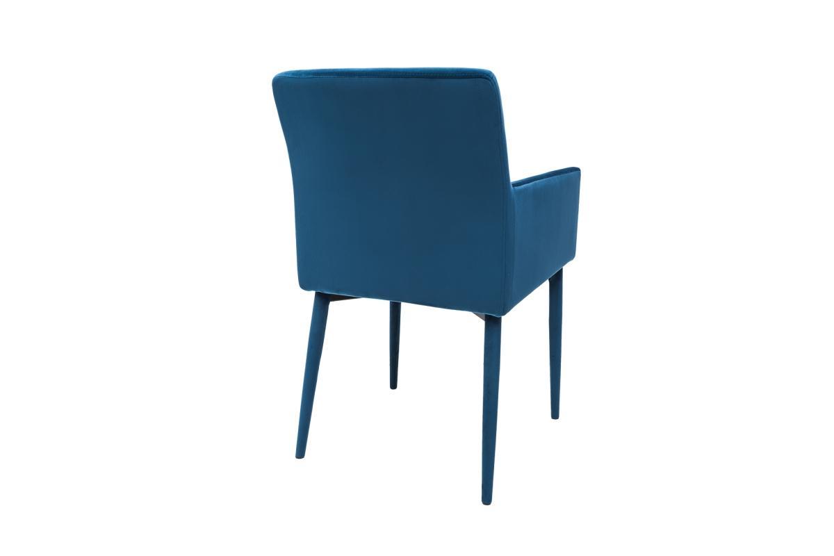 Designová židle s područkami Neapol, královská modrá