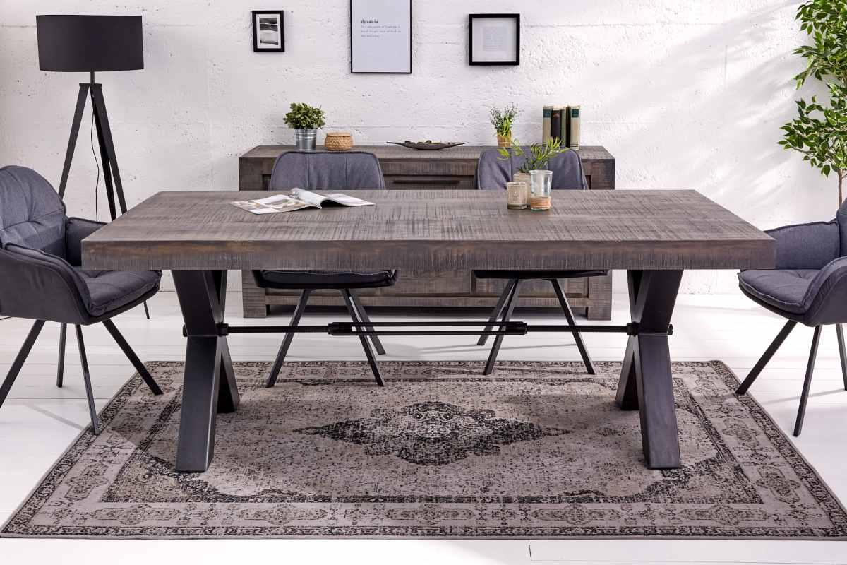 Designový jídelní stůl Thunder X, 160 cm, šedé mango