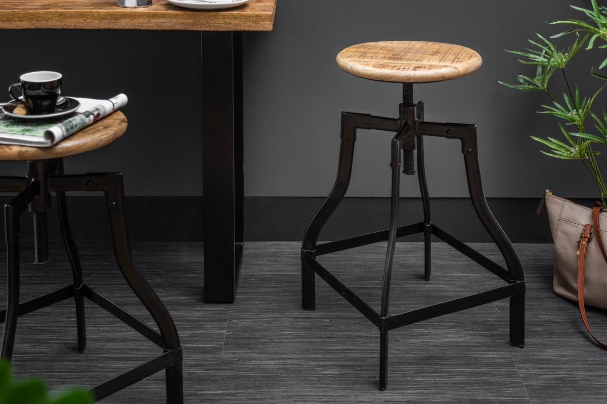 Barová židle Thunder, 60-74 cm, mango