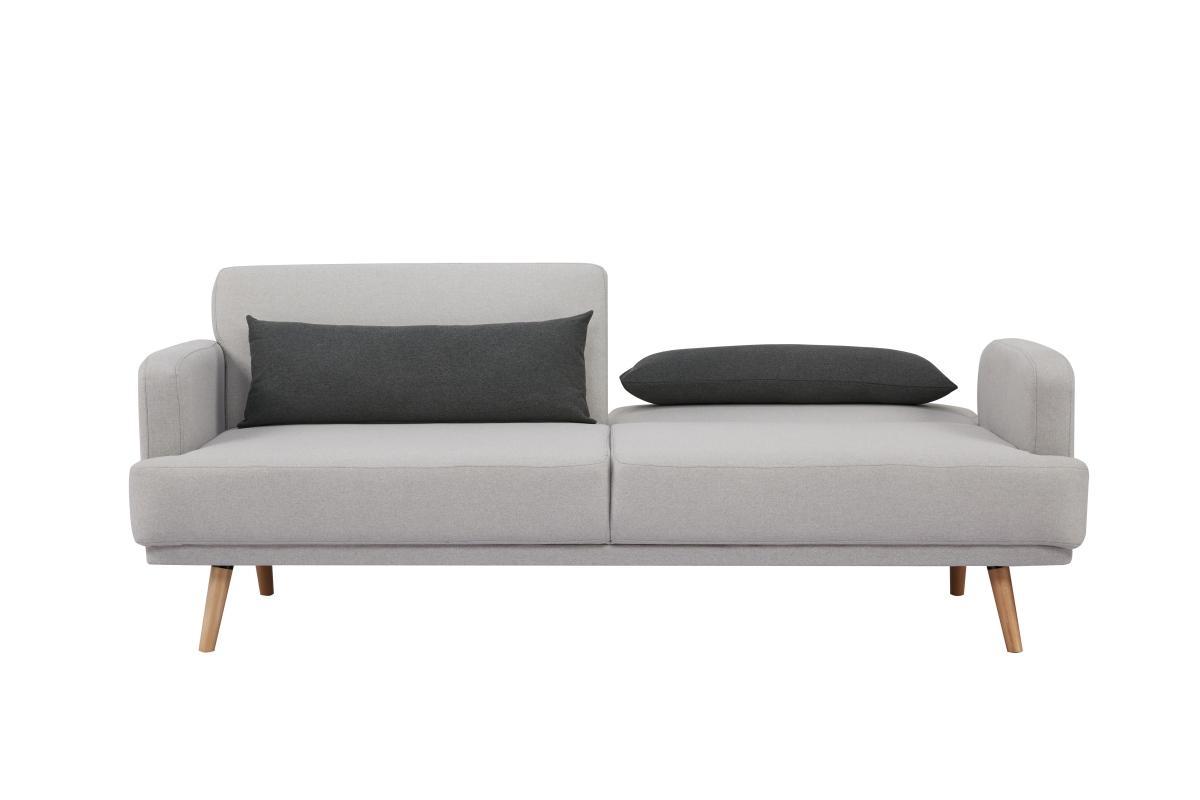 Rozkládací sedačka Annika, 214 cm, šedá