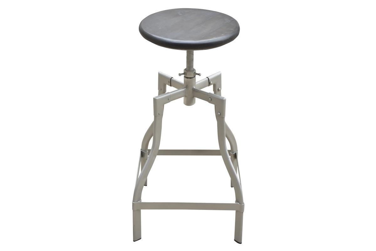 Barová židle Thunder, 60-74 cm, šedé mango