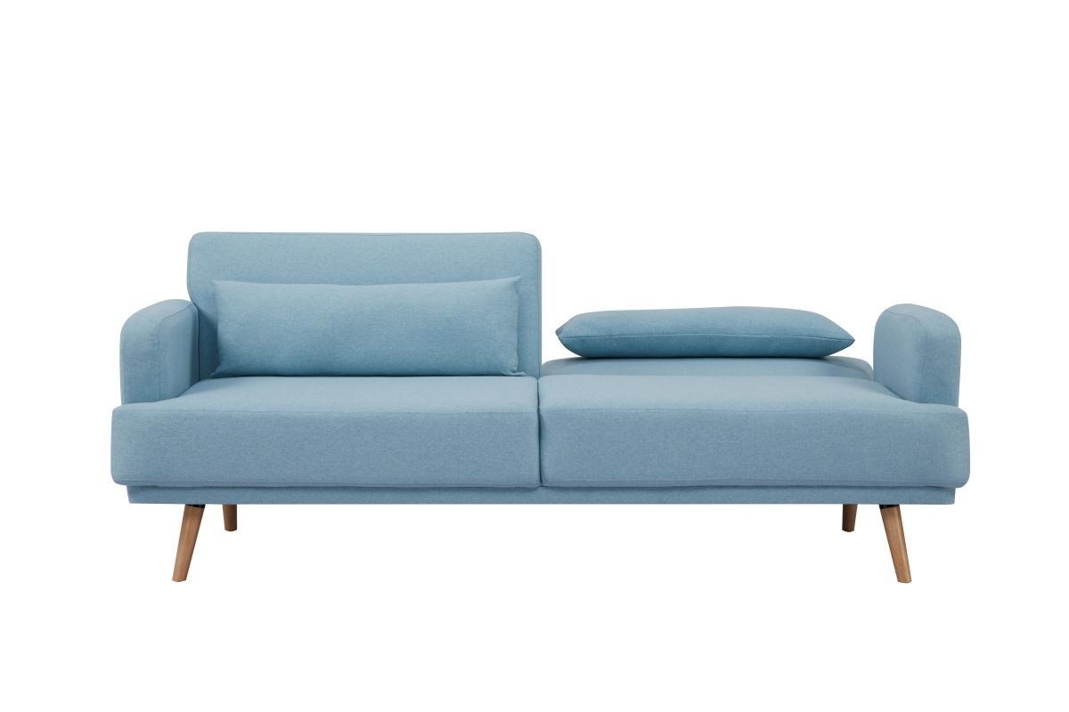 Rozkládací sedačka Annika, 214 cm, aqua