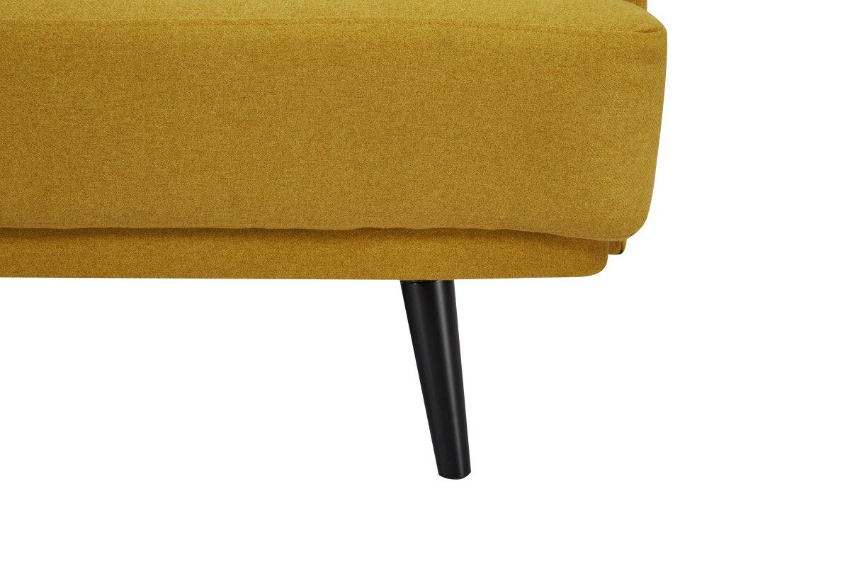 Rozkládací sedačka Annika, 214 cm, hořčicová