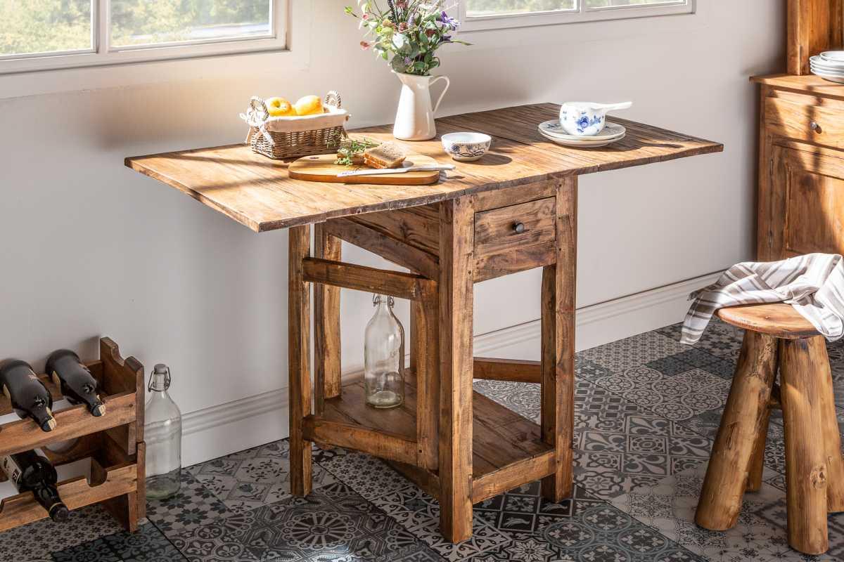Sklopný stůl Lyric, 119 cm, mahagon