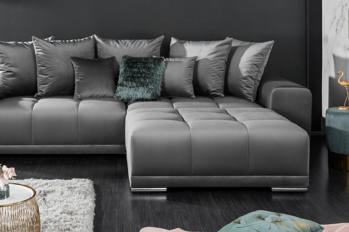 Designová taburetka Cason, 110 cm, stříbrno-šedá