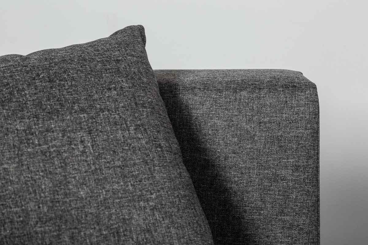 Rozkládací rohová sedačka Alanna, 340 cm, tmavě šedá