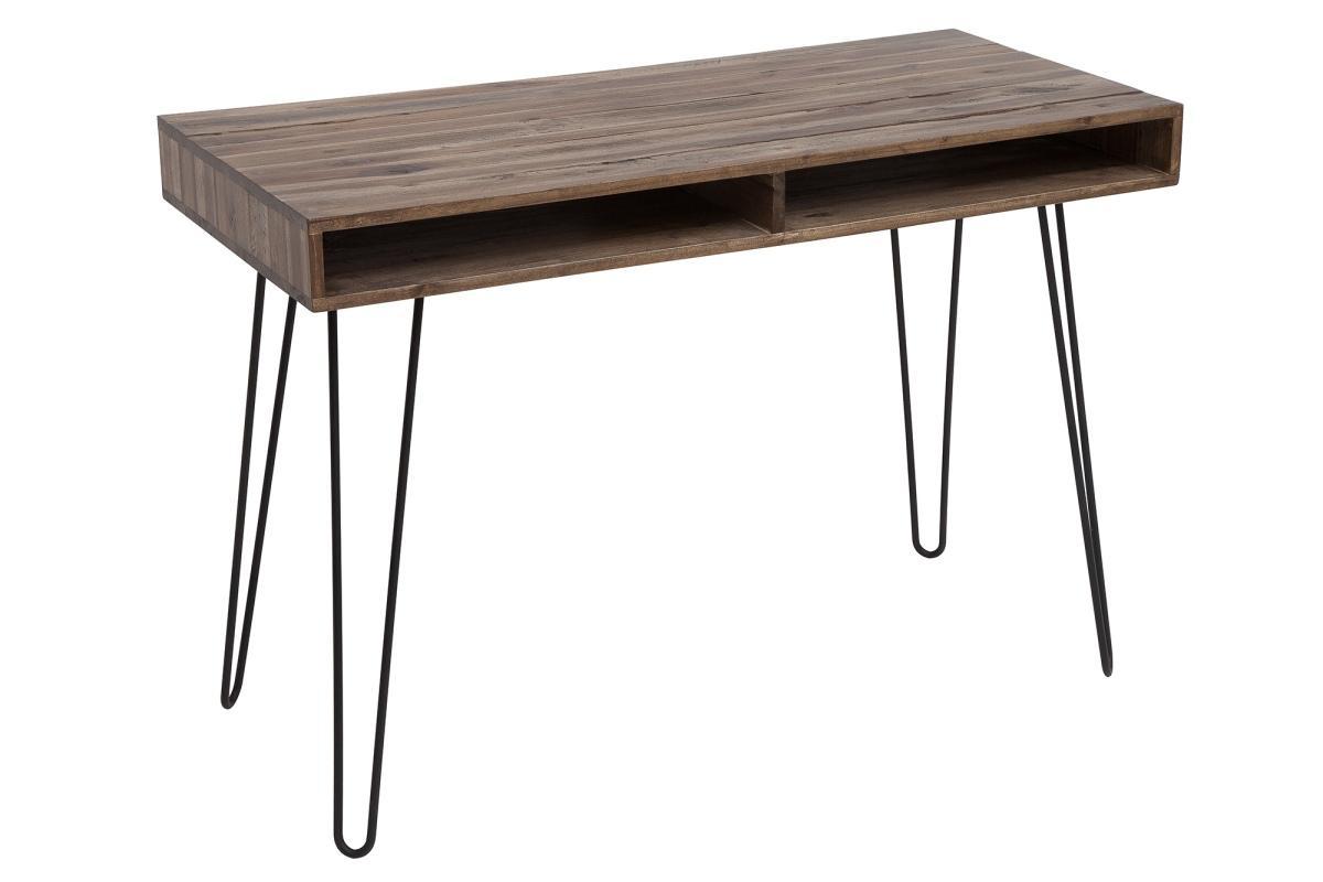 Psací stůl Shayla, 110 cm, šedá akácie
