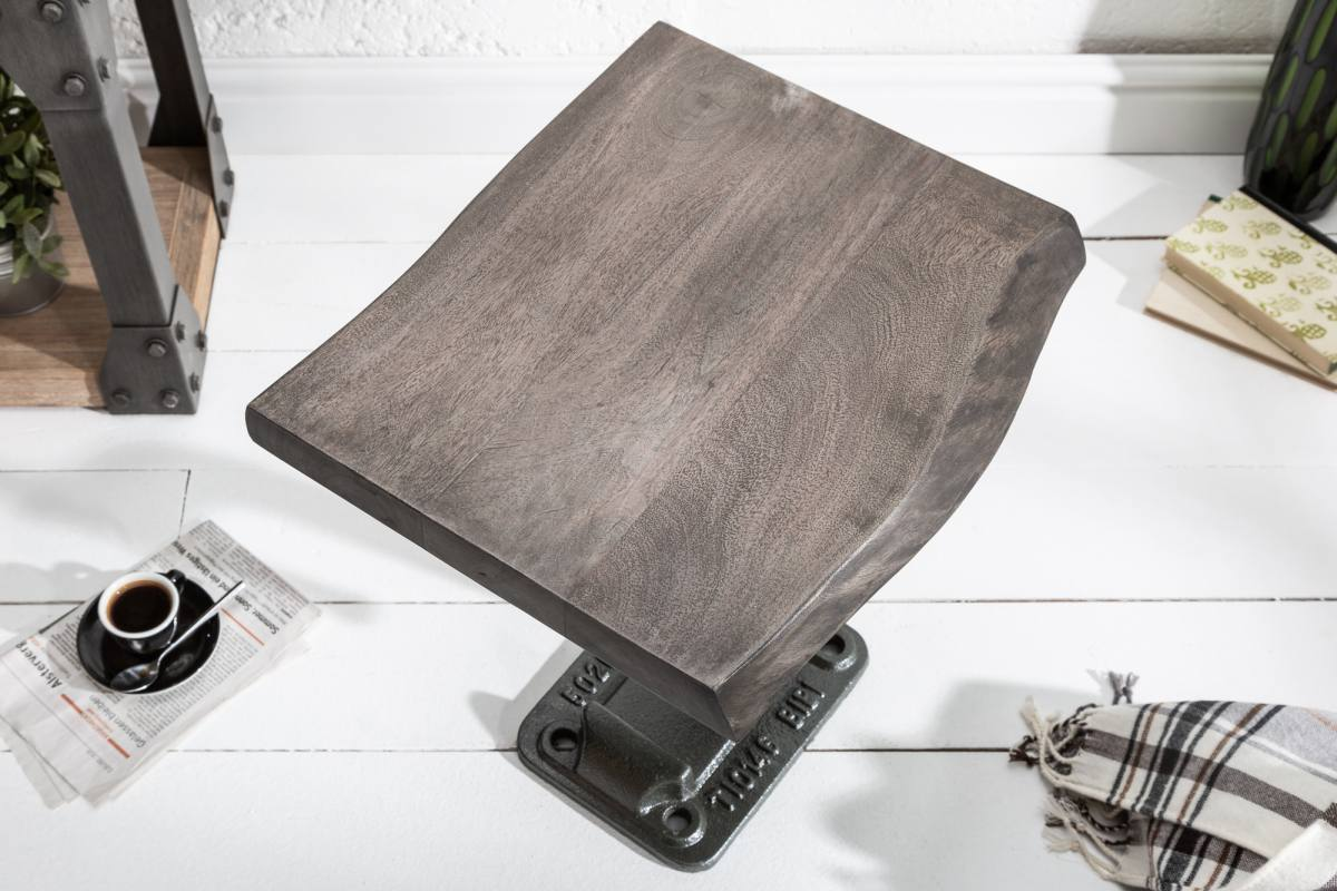 Designový odkládací stolek Unity, 43 cm, šedá akácie