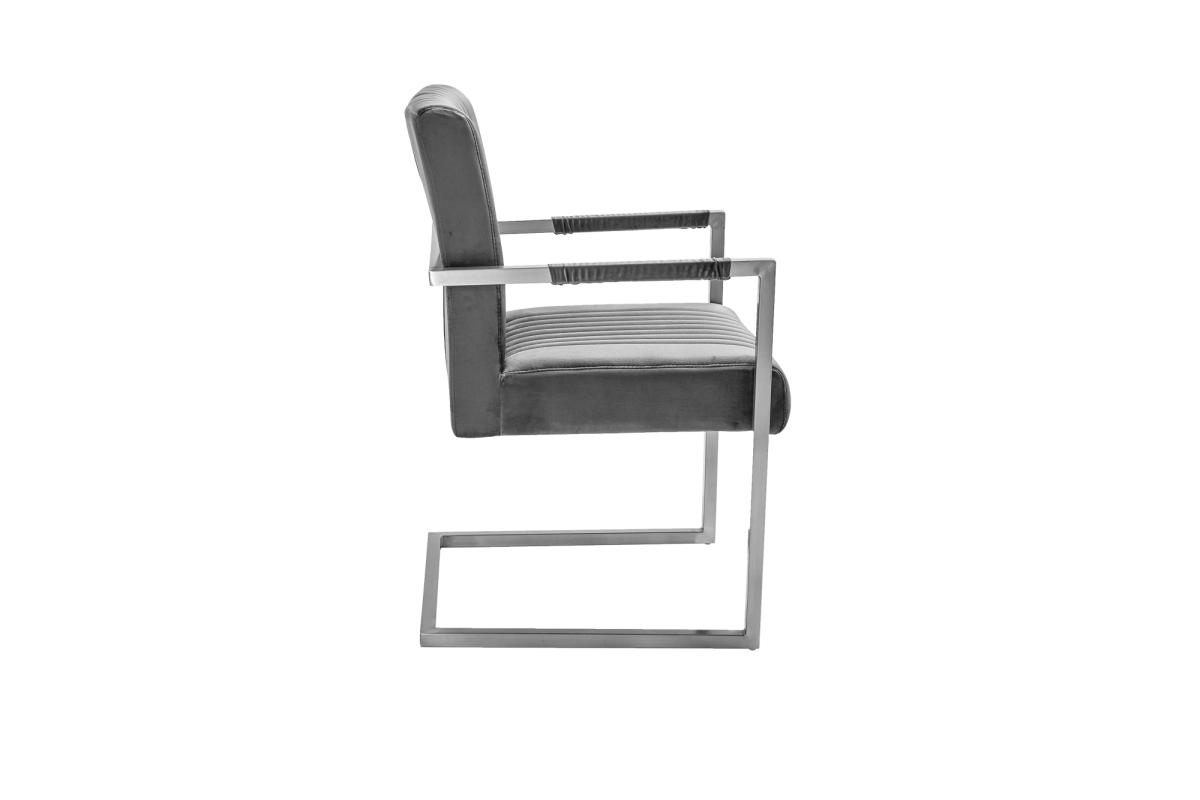 Konzolová židle Boss, šedý samet