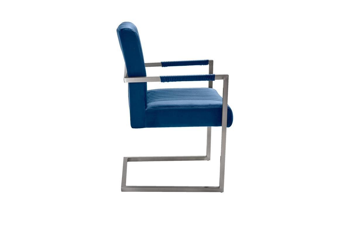 Konzolová židle Boss, modrý samet