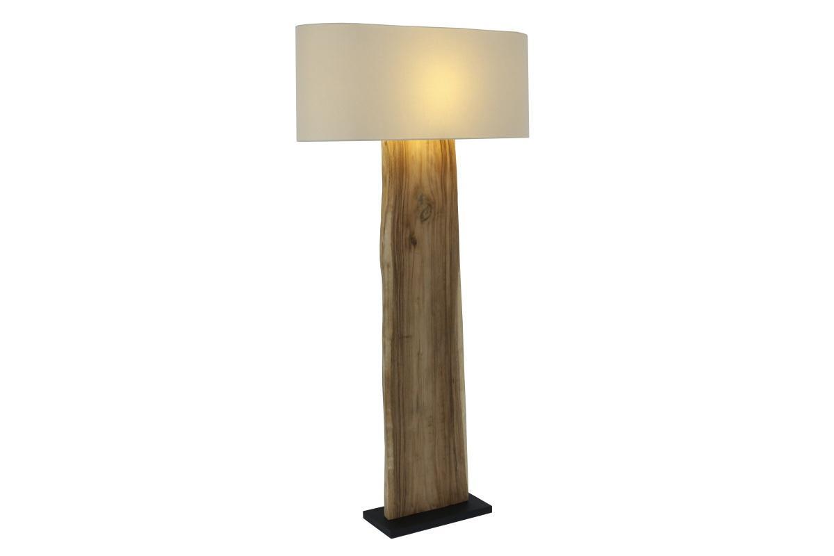 Designová stojanová lampa Lorelei, béžová, ořech
