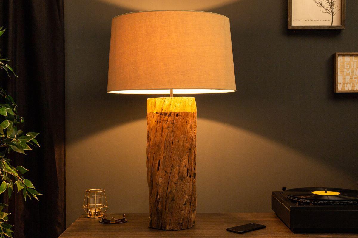 Designová stolní lampa Desmond, 73 cm, zlatá, ironwood