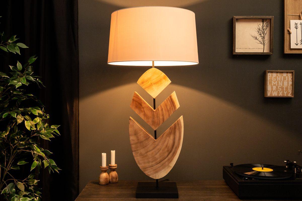 Designová stolní lampa Deandre, 91 cm ořech