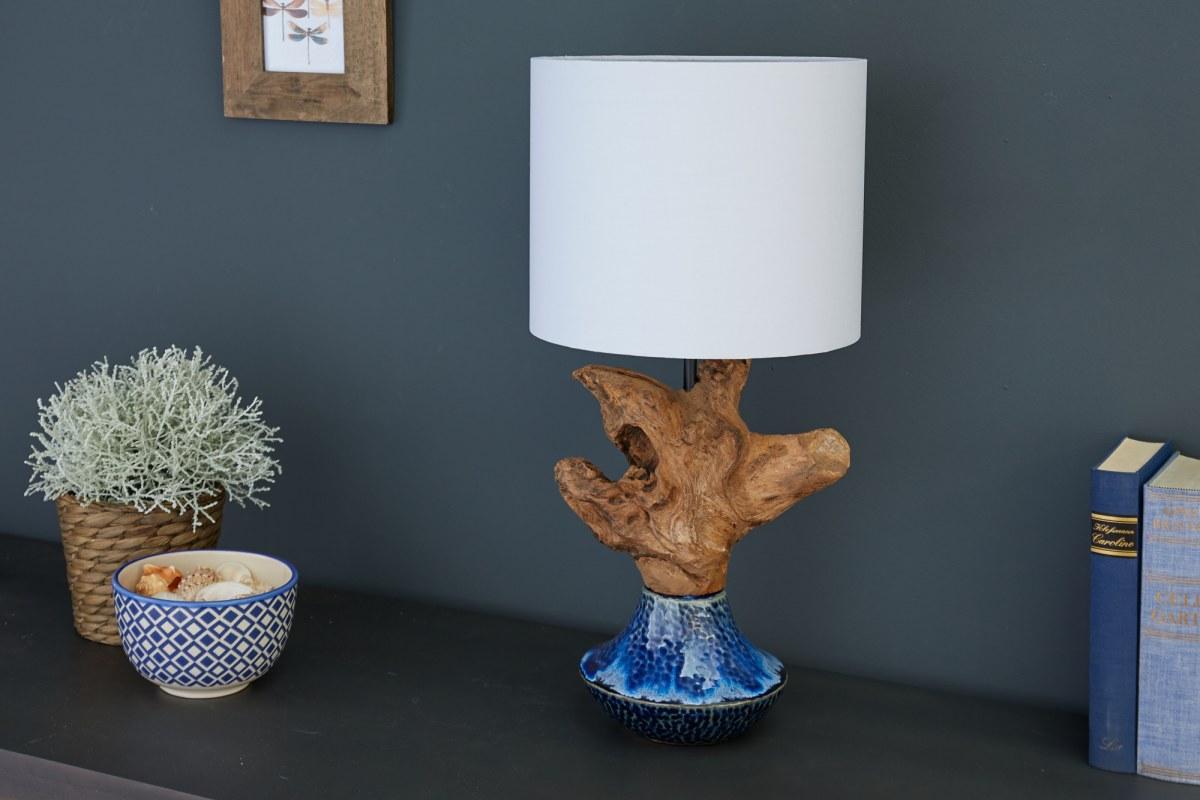 Designová stolní lampa Sloane, 91 cm ořech