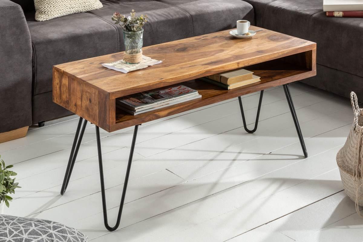 Designový konferenční stolek Shayla, 100 cm, sheesham