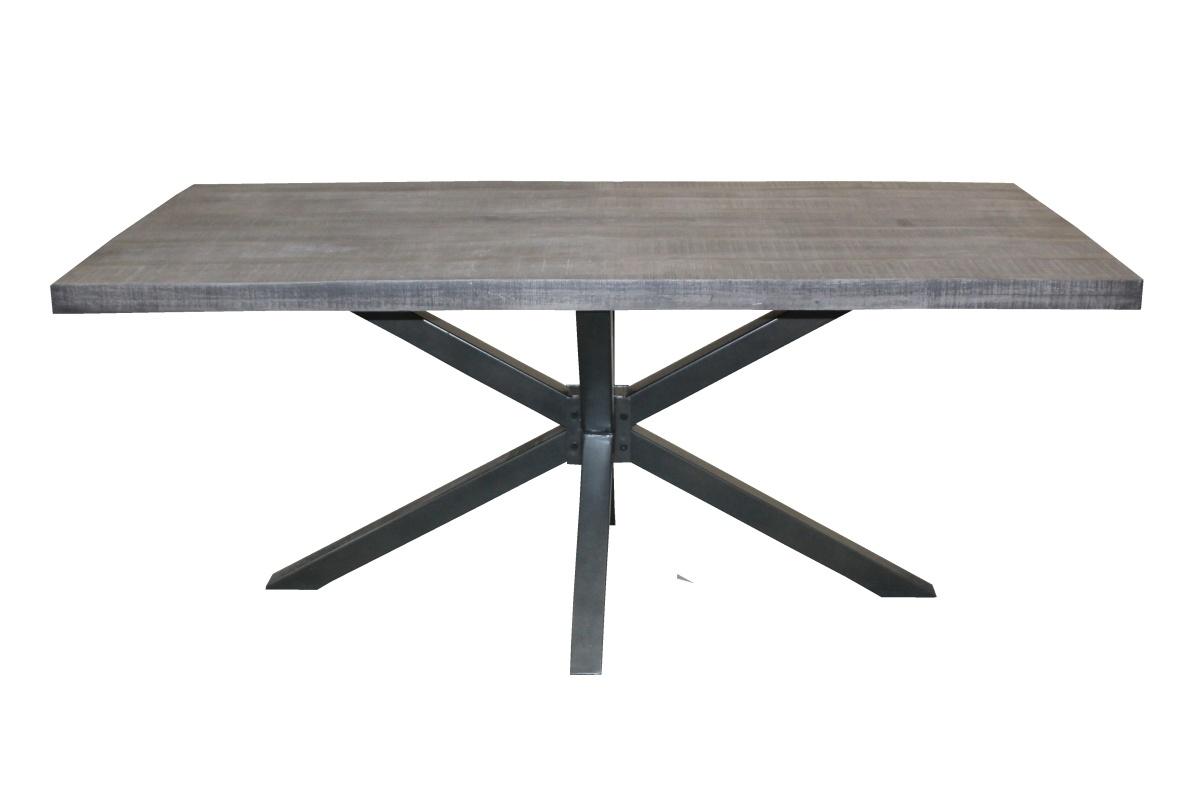Designový jídelní stůl Vera, 180 cm, šedá akácie