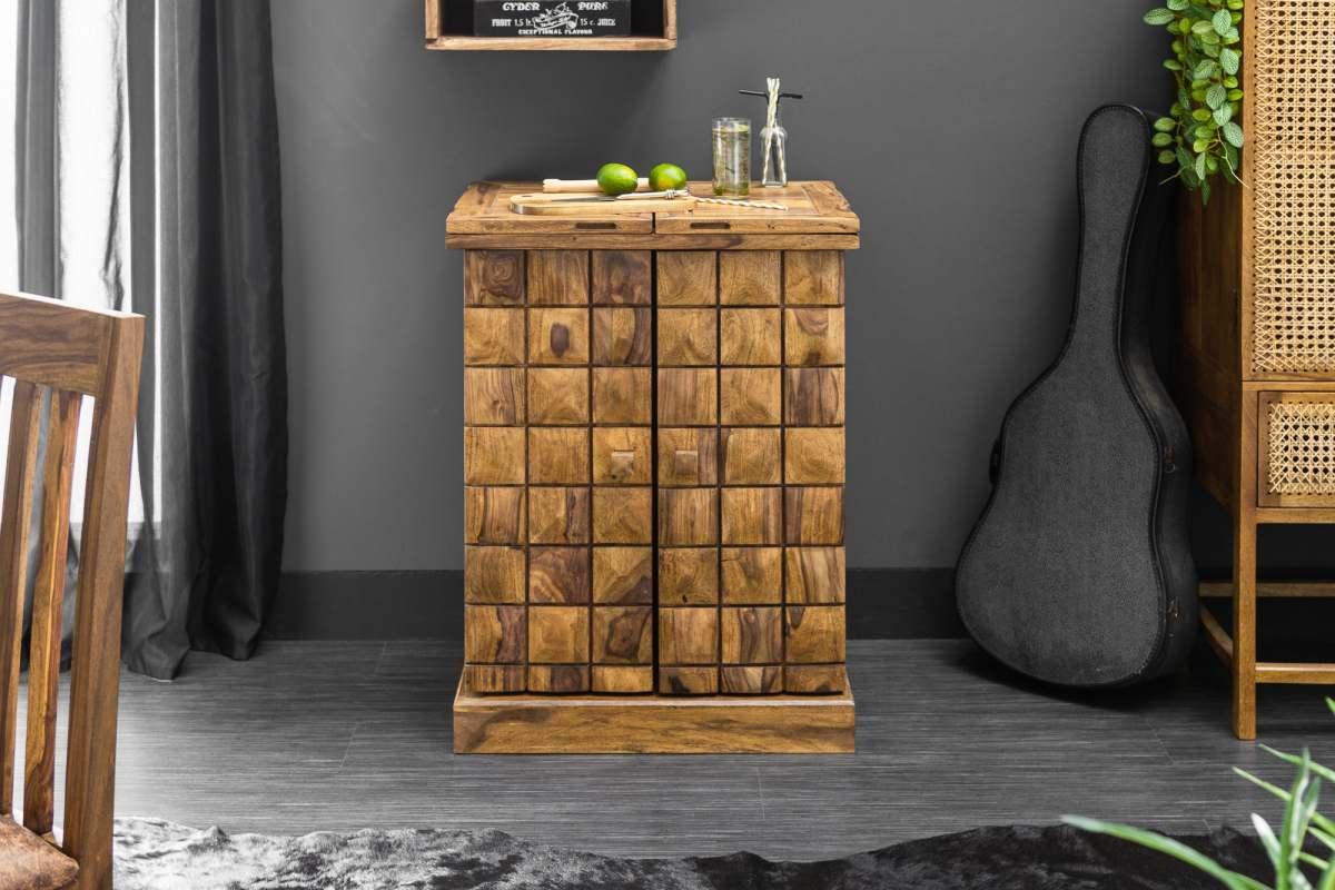 Designová barová skříňka Motley, 130 cm, sheesham