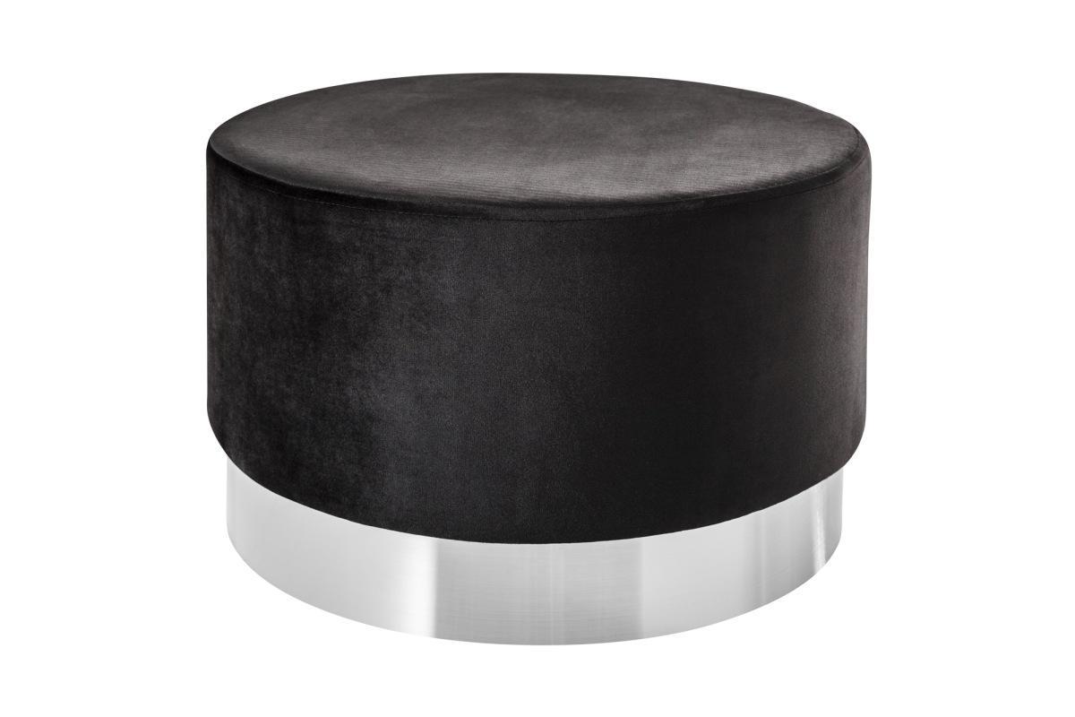 Designová taburetka Alejandra 55 cm, stříbrná / černá