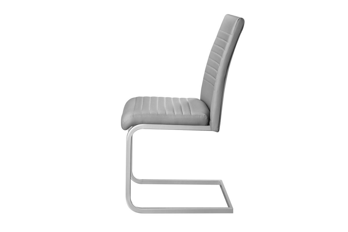 Konzolová židle Douglas, šedá, chrom