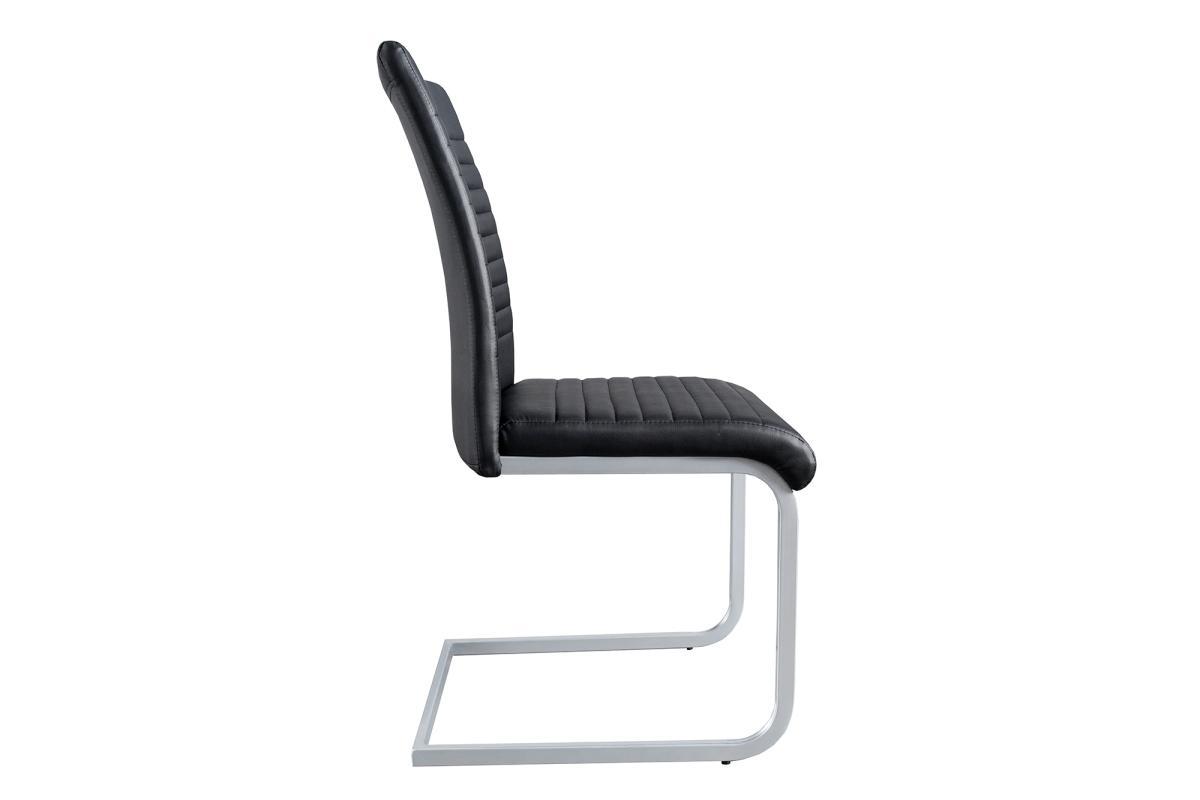 Konzolová židle Douglas, černá, chrom