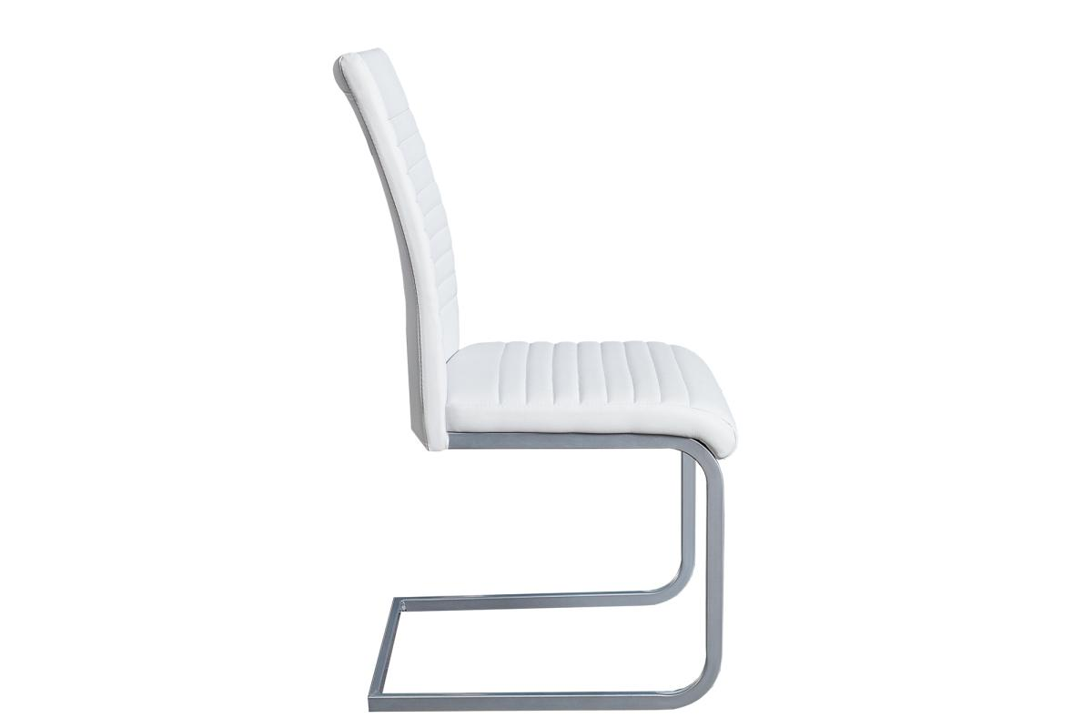 Konzolová židle Douglas, bílá, chrom