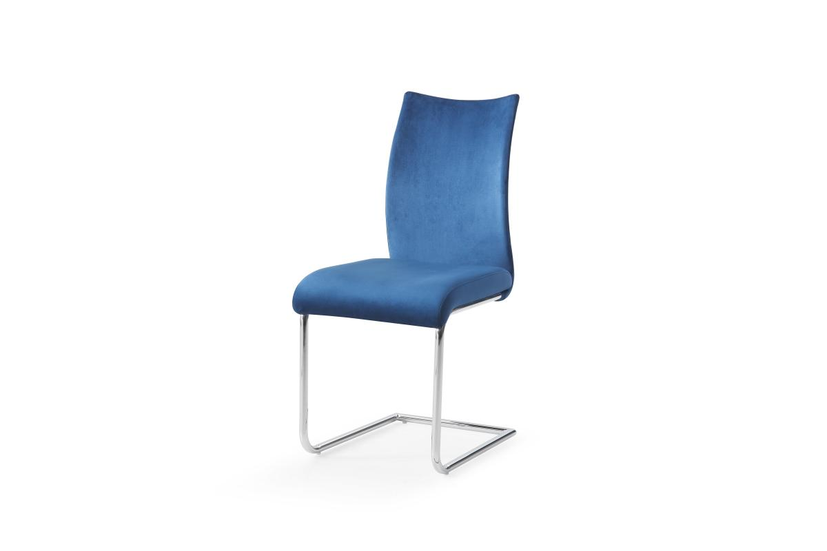 Konzolová židle Bland, královská modrá, chrom