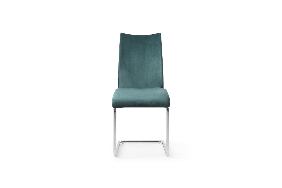 Konzolová židle Bland, smaragdová zelená, chrom