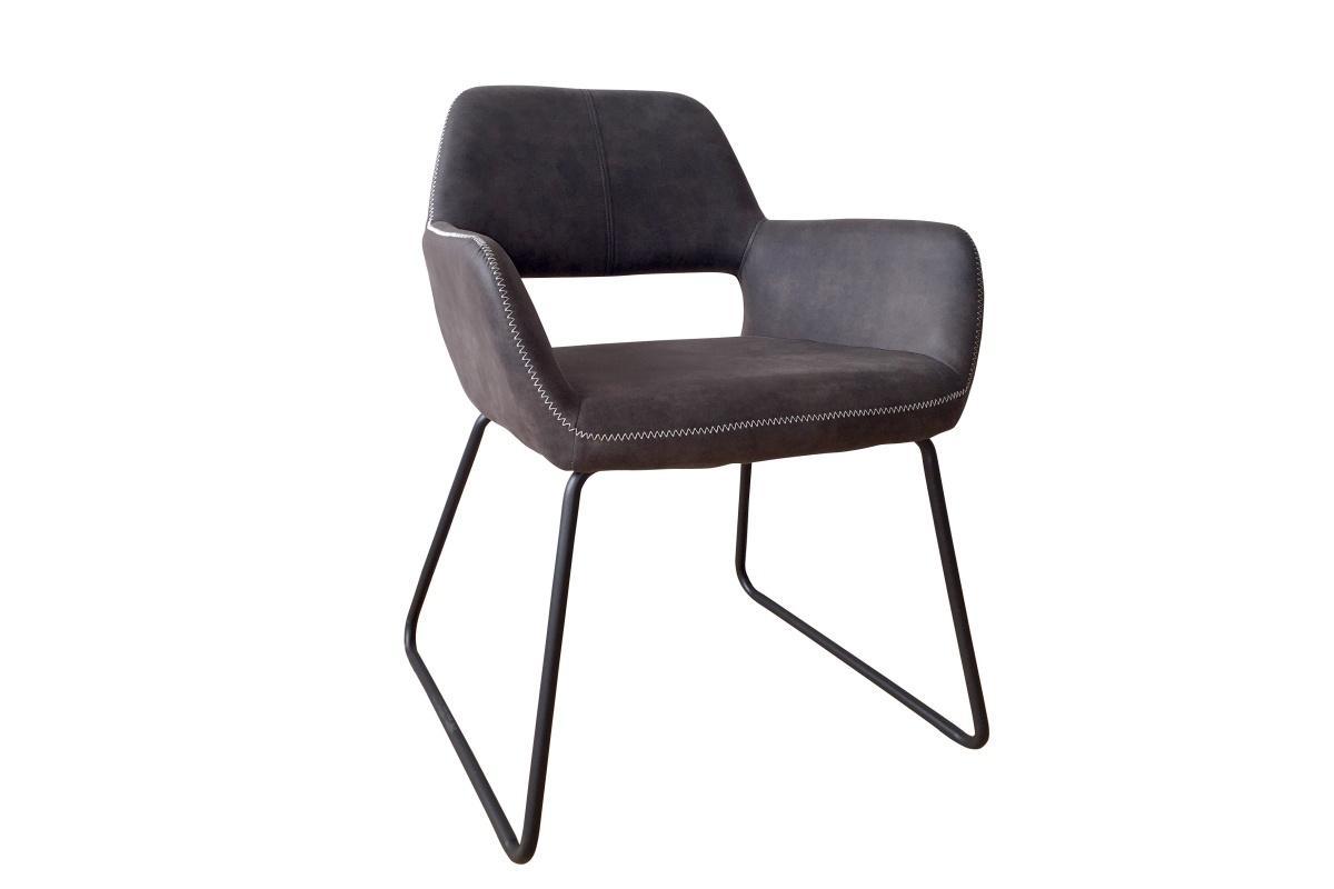 Designová židle Derrick, antik šedá