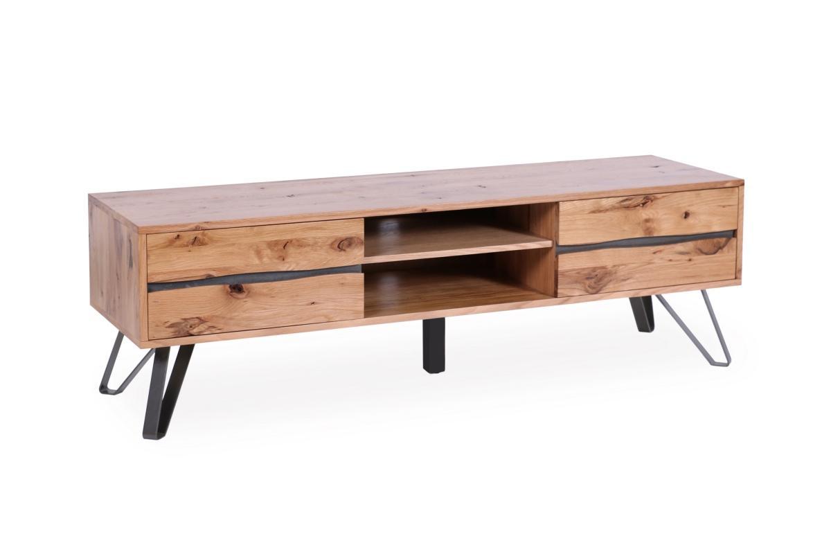 Designový TV stolek Fringe, 160 cm, divoký dub