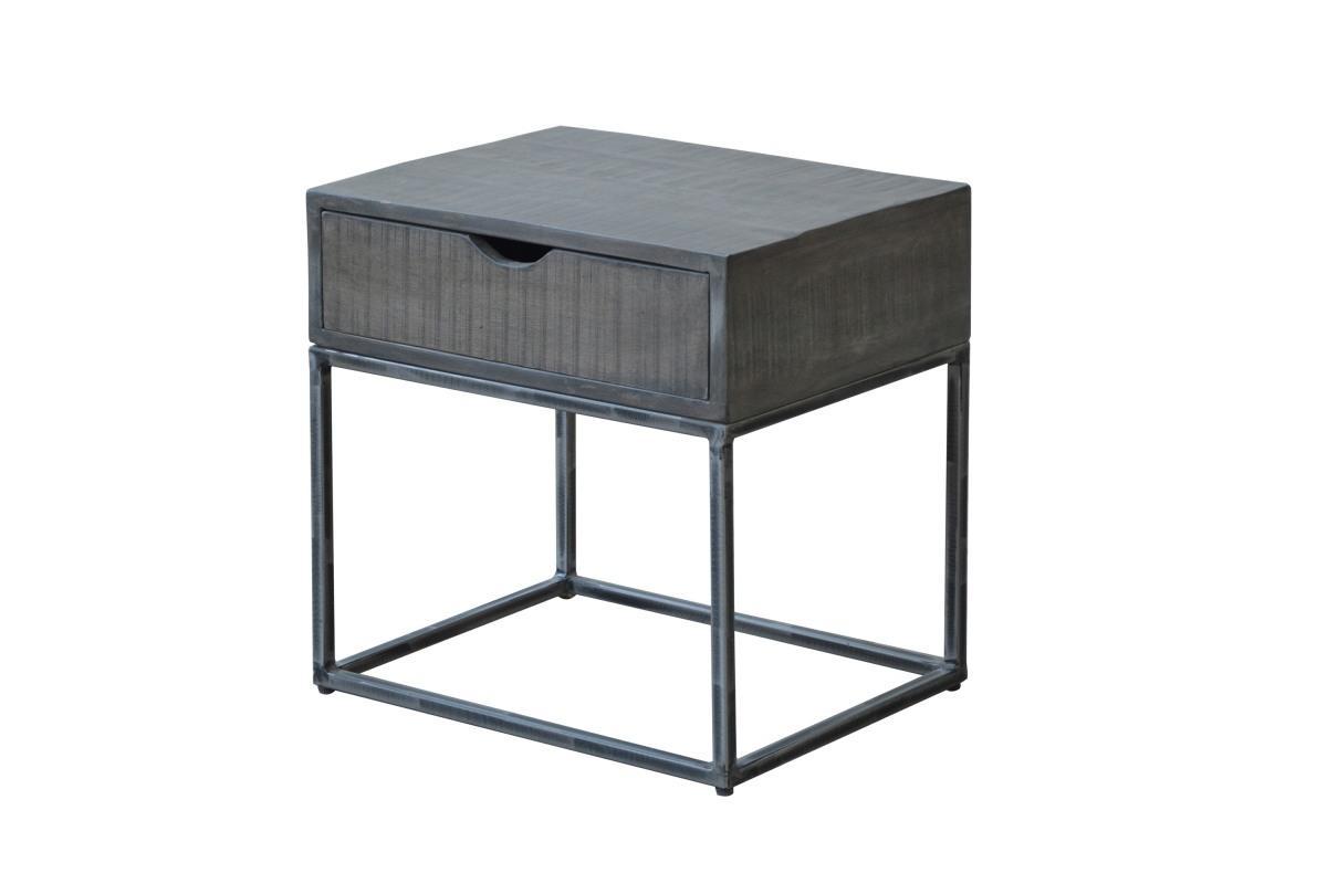 Designový noční stolek Thunder, 45 cm, šedá akácie