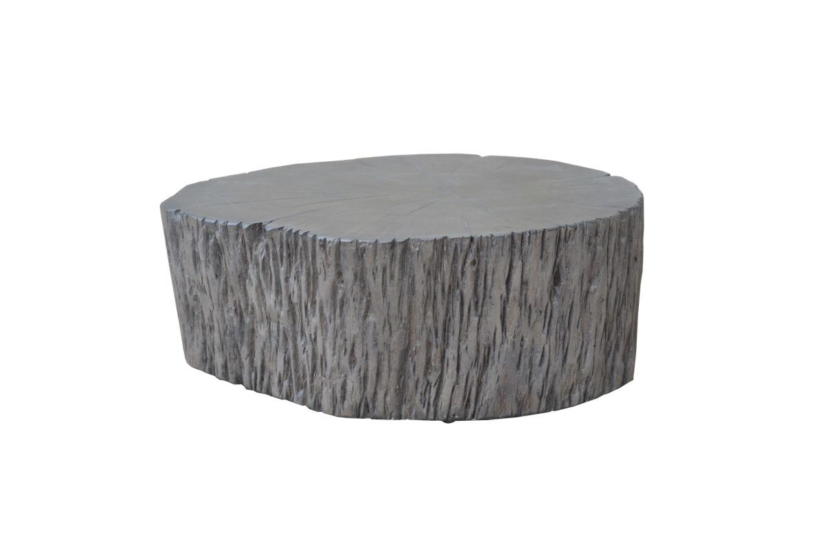 Designový konferenční stolek Island, 77cm, šedá akácie