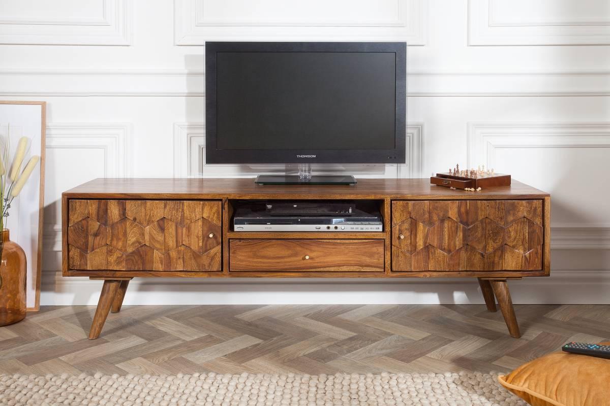Designový TV stolek Justice, 140 cm, sheesham
