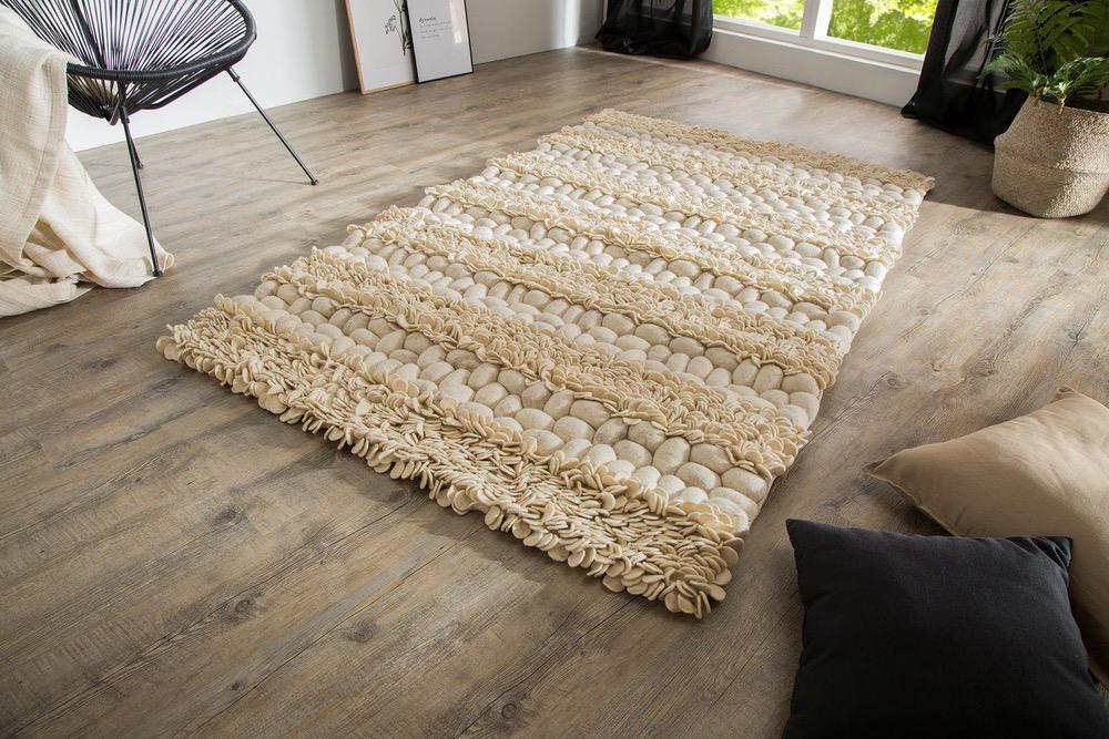 Designový koberec Rebecca II 200x120 cm / přírodní plst