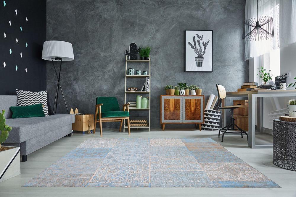 Designový koberec Lessie 240x160 cm / světle modrá