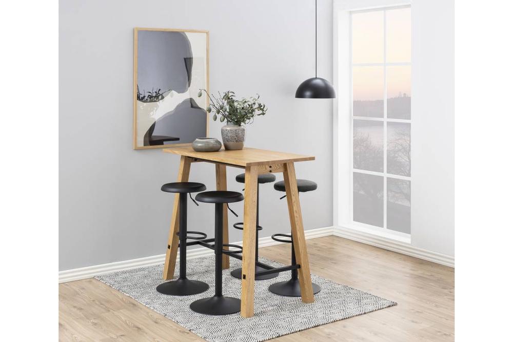 Moderná barová stolička Nenna, čierna
