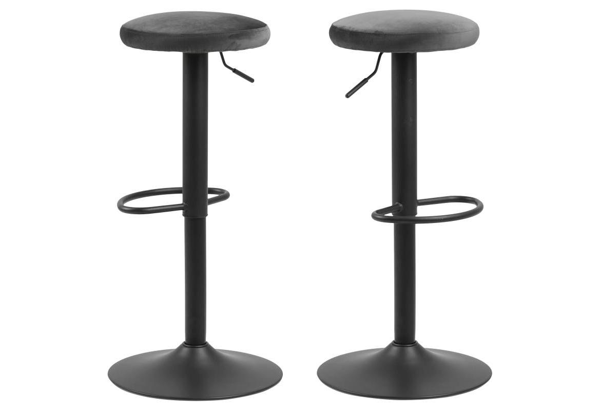 Moderná barová stolička Nenna, čierna-tmavo šedá