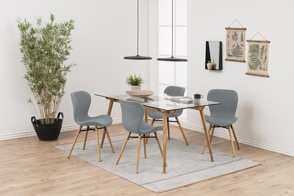 Moderná jedálenská stolička Alejo, svetlosivá