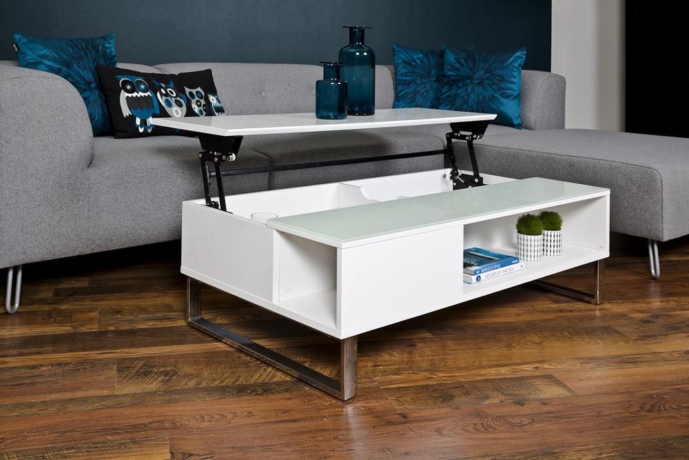 Moderní konferenční stolek Ahaan bílá