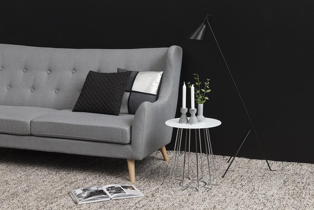 Moderní odkládací stolek Ahmed bílá / chromová