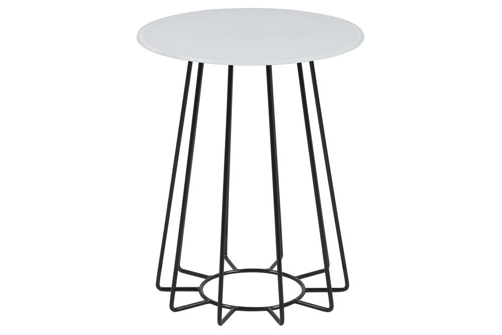 Moderní odkládací stolek Ahmed bílá / černá
