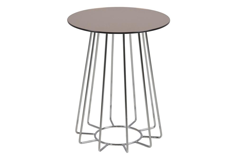 Moderní odkládací stolek Ahmed bronzová / chromová