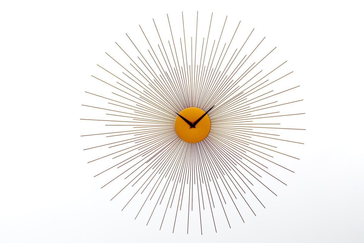 Nástěnné hodiny Caylee 70 cm zlaté