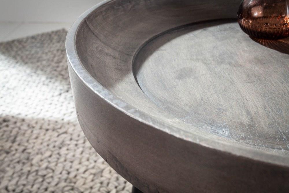 Odkládací stolek Desmond 35 cm šedá akácie