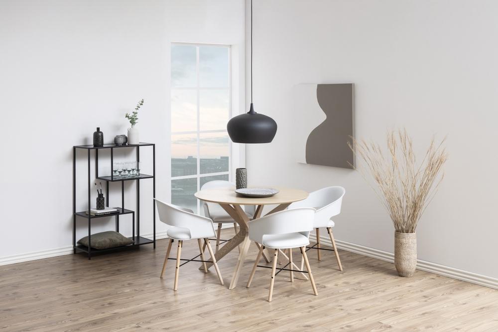 Kulatý jídelní stůl Neeja 105 cm dub