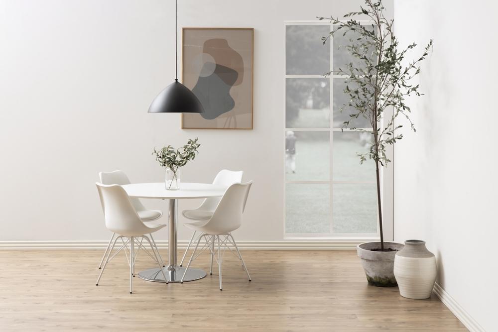 Kulatý jídelní stůl Neesha 110 cm bílý
