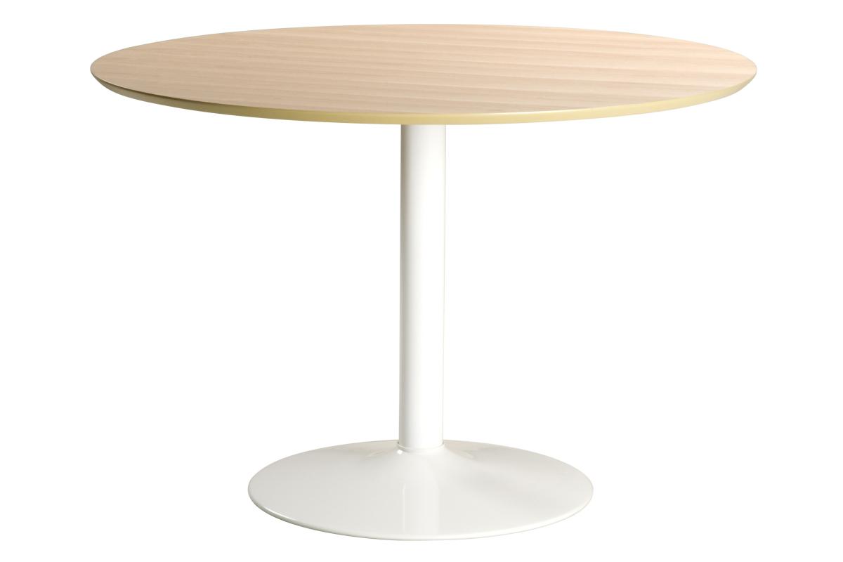 Kulatý jídelní stůl Neesha 110 cm dub