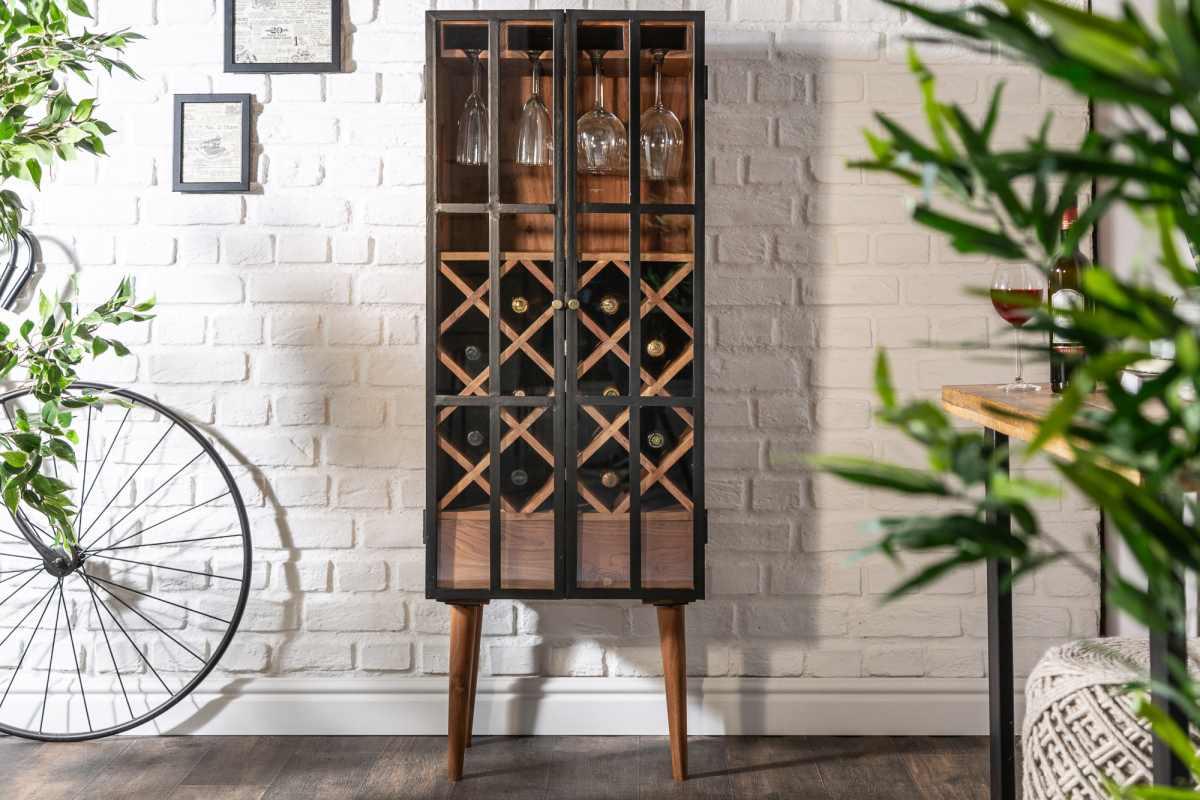 Regál na víno Winebar 145 cm akácie