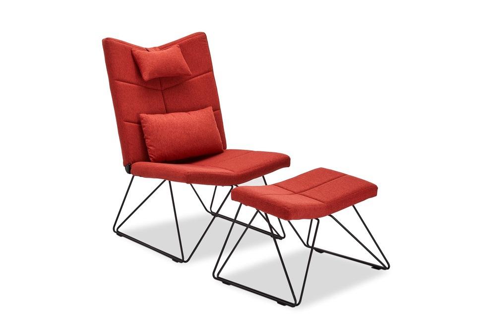 Relaxační křeslo Abbott, červené