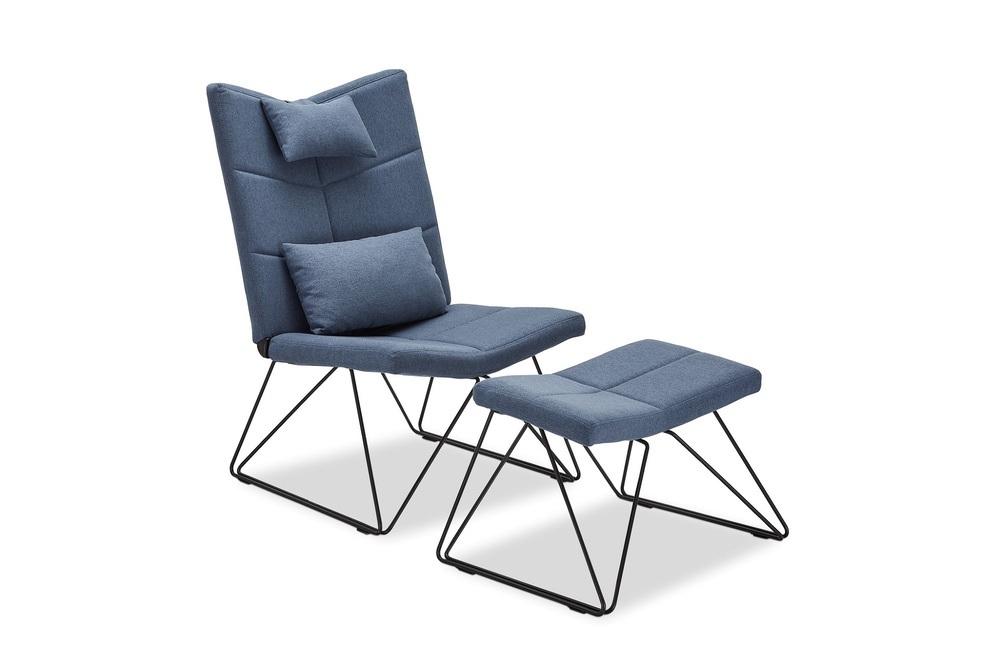 Relaxační křeslo Abbott, modré